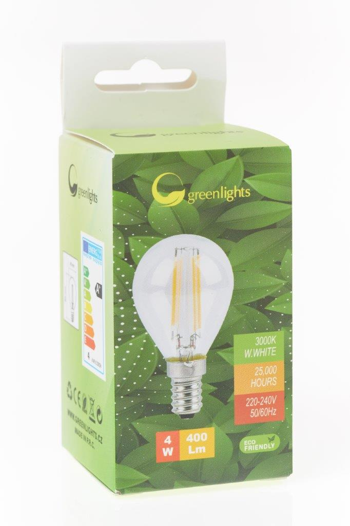 LED žárovka GREEN LIGHTS E14 Filament LED 4W