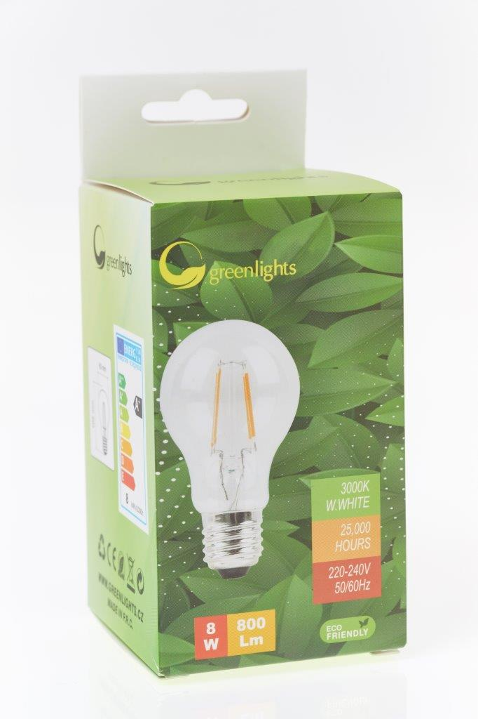 LED žárovka GREEN LIGHTS E27 Filament LED 8W
