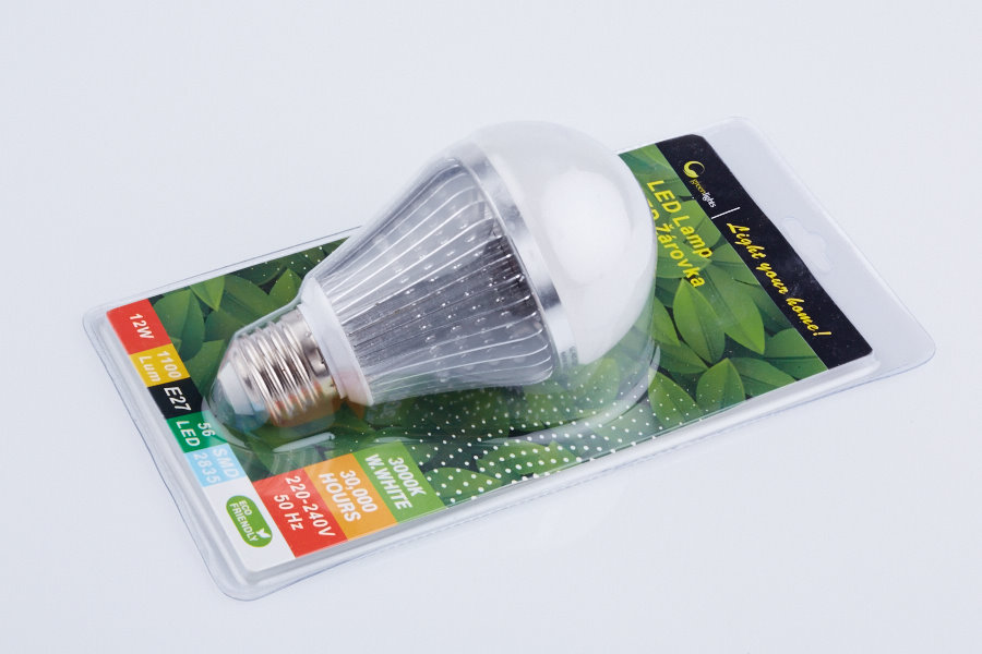 LED žárovka GREEN LIGHTS E27 56LED SMD2835 12W ALU Cold